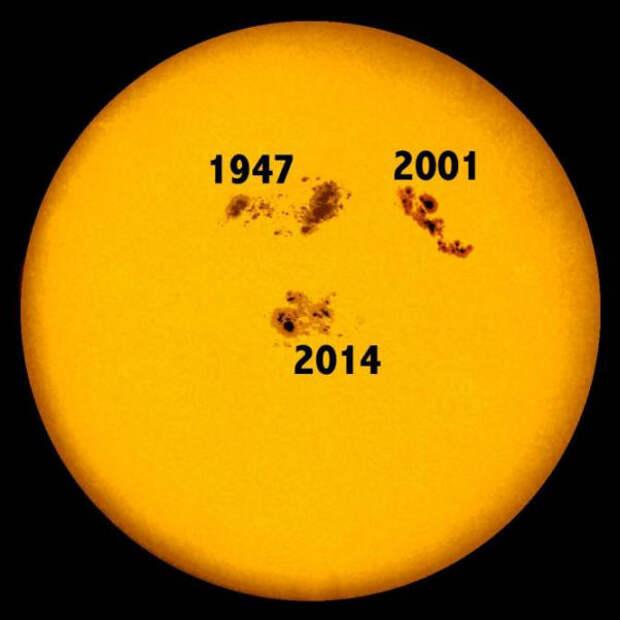 На Солнце замечено самое крупное пятно за 24 года