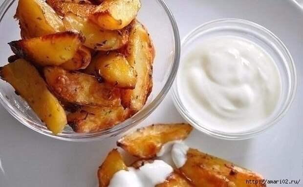 Быстрый запечённый картофель в соево-чесночном соусе
