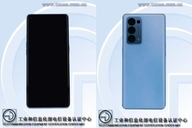 Изображения и основные характеристики смартфонов OPPO Reno 6 Pro и OPPO Reno 6 Pro+ попали в сеть до анонса