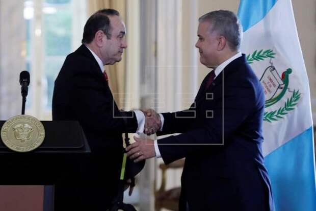 COLOMBIA GUATEMALA - Colombia y Guatemala acuerdan reforzar su lucha contra el crimen trasnacional