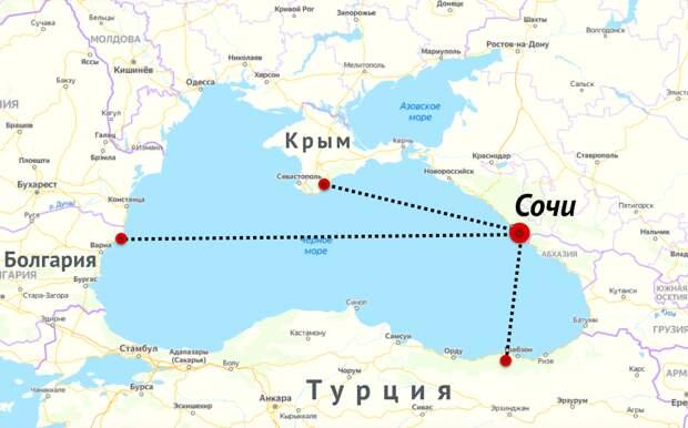 Реально ли разглядеть Турцию и Крым в бинокль с горы Ахун в Сочи?
