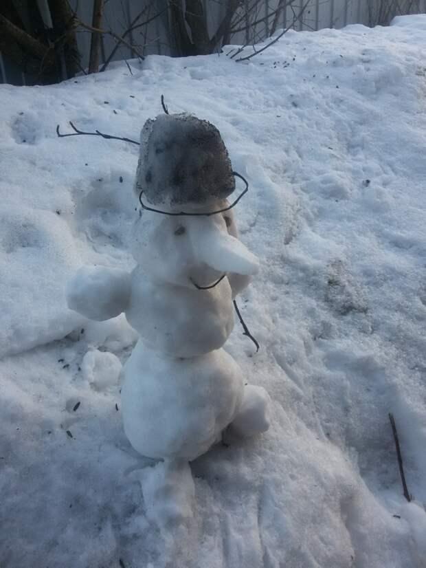 Делали снеговиков таких горка, дача, песочница, своими руками, сделай сам, семья