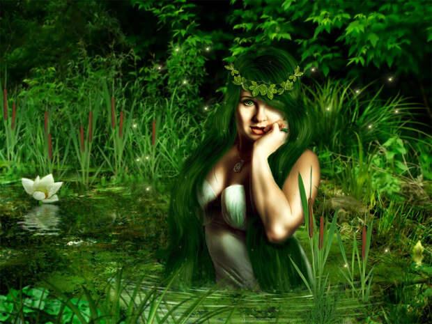 Арт на тему болотной кикиморы. Картинка из открытых источников.