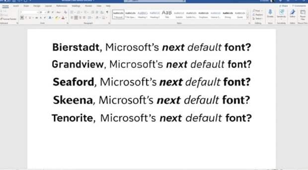 Microsoft впервые за 15 лет изменит стандартный шрифт в Office