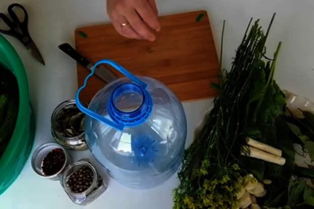 Быстрый способ засолки огурцов на зиму / огурцы в бутылке: фото шаг 2