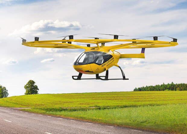 Немцы испытали аэротакси Volocopter в роли «скорой»