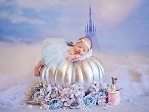 Маленькие Диснеевские принцессы в фотопроекте Карен Мари