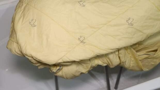 Как легко постирать одеяло, плед, покрывало