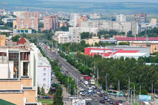 В Красноярске разрешат проезд по выделенной полосе на части улицы Высотной