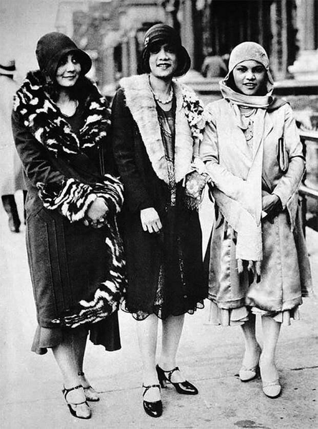 Гарлем, 1927 год Стиль, винтаж, двадцатые, женщина, мода, прошлое, улица, фотография