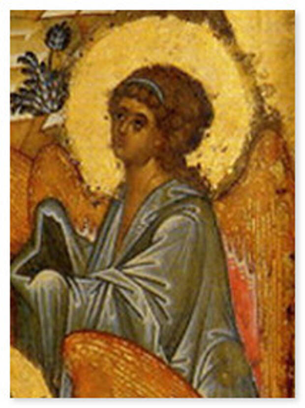 Икона Крещение Господне. 15 век, школа Андрея Рублева. Фрагмент