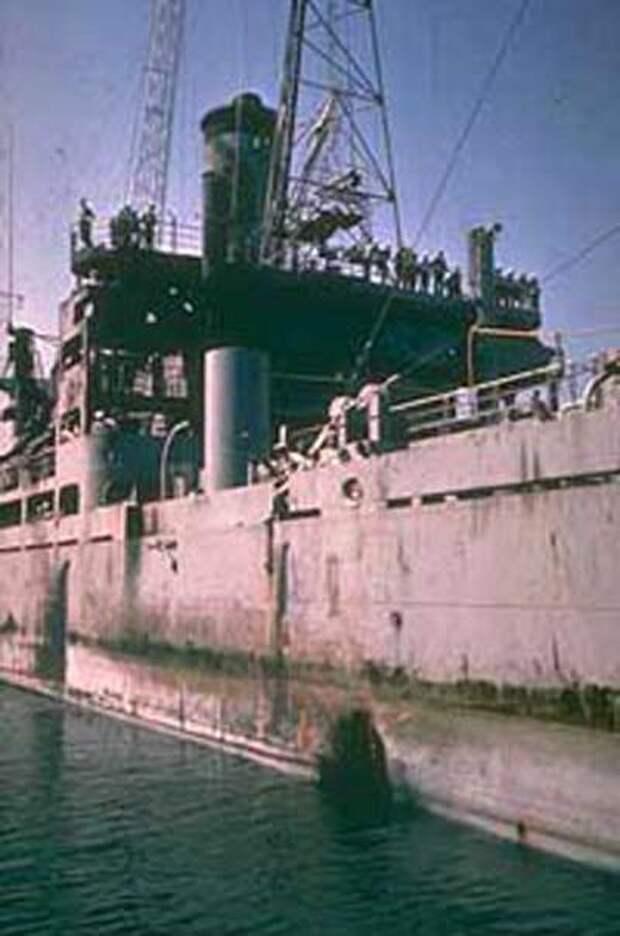 USS Liberty (AGTR-5) в Ла-Валлетта, Мальта, после прибытия на ремонт (Фото: U.S. Navy)