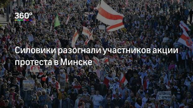 Силовики разогнали участников акции протеста в Минске