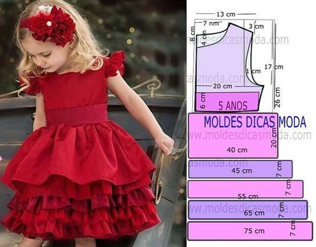 Праздничные платья для дочек или внучек. Подборка идей и выкроек