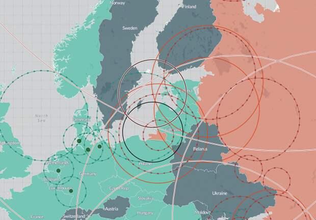 Запад шокировала карта ракетных систем НАТО и России