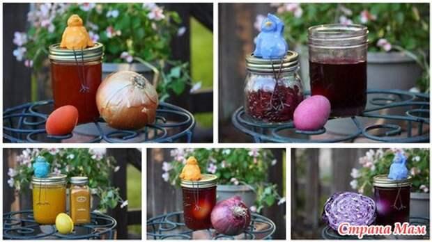 Натуральные красители для пасхальных яиц.