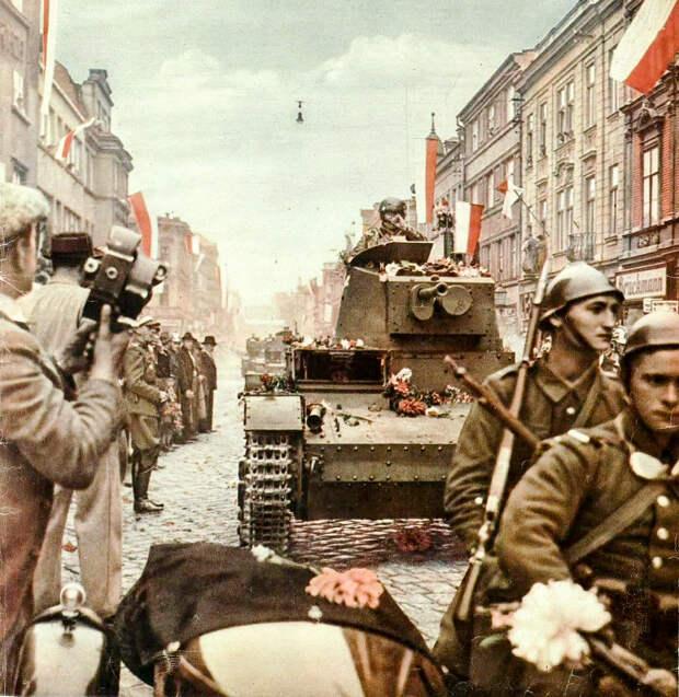 За год до оккупации страны Гитлером поляки сами выступили в роли агрессора, заняв по сговору с Берлином часть Чехословакии. Фото из журнала «Святовид», октябрь 1938 года