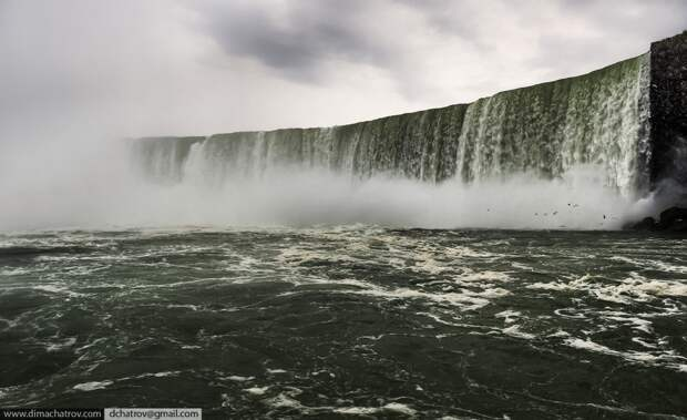 Niagaraoutside09 Ниагарский водопад. Вид изнутри