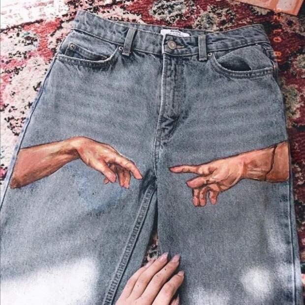 рисунки на по джинсе
