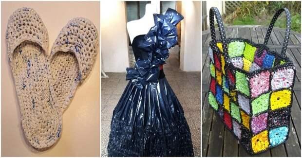 30+ полезных и занятных идей повторного использования пластиковых пакетов
