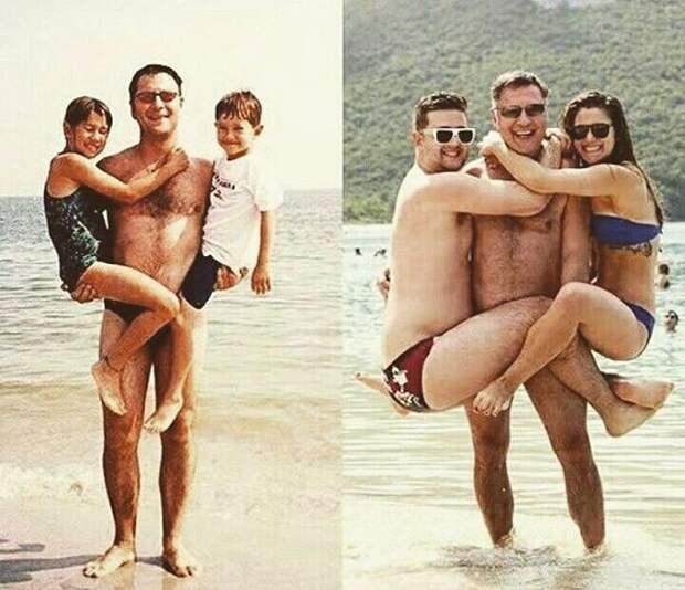Детки выросли  люди, семья