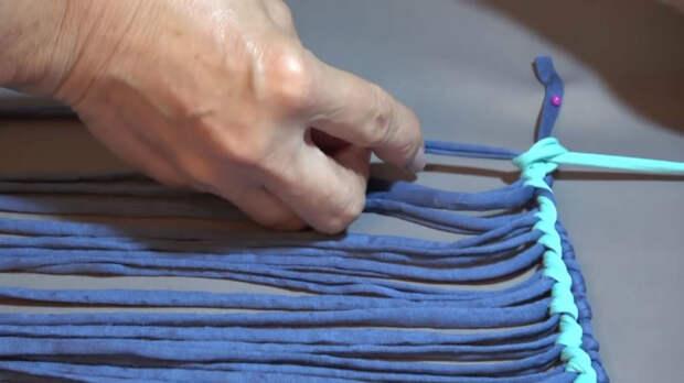 Элементарная технология, как сплести коврик любого размера