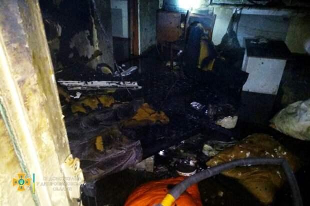 При пожаре в Каменском погиб мужчина