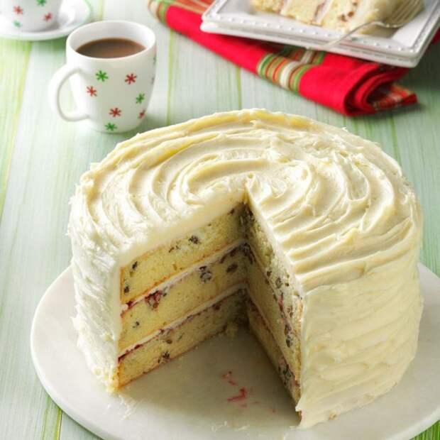 Малиновый торт с белым шоколадом
