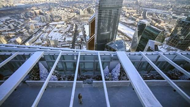 Открытие катка на крыше башни Око ММДЦ Москва-Сити. Архивное фото