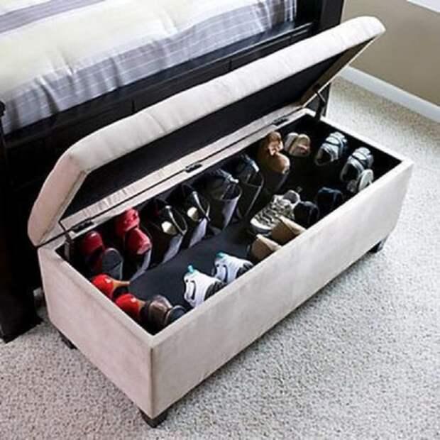 Идеи хранения обуви: 25 классных и продуманных вариантов