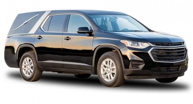 7-местный кроссовер Chevrolet Traverse превратился в катафалк