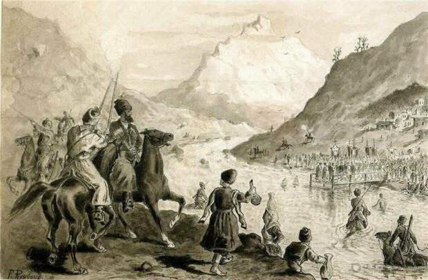 Черкесы использовали артиллерию в боевых действиях