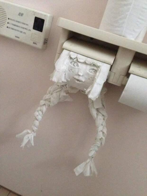 Искусство из туалетной бумаги