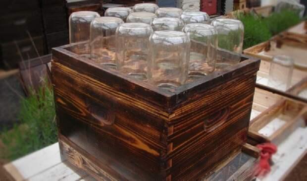 Мёд сразу в банках? Гениальное решение для тех, кто решил заняться пчёлами гениально, мёд, пчёлы, своими руками, соты, улей