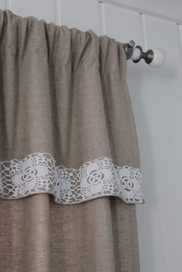Льняные шторы - доступная роскошь своими руками