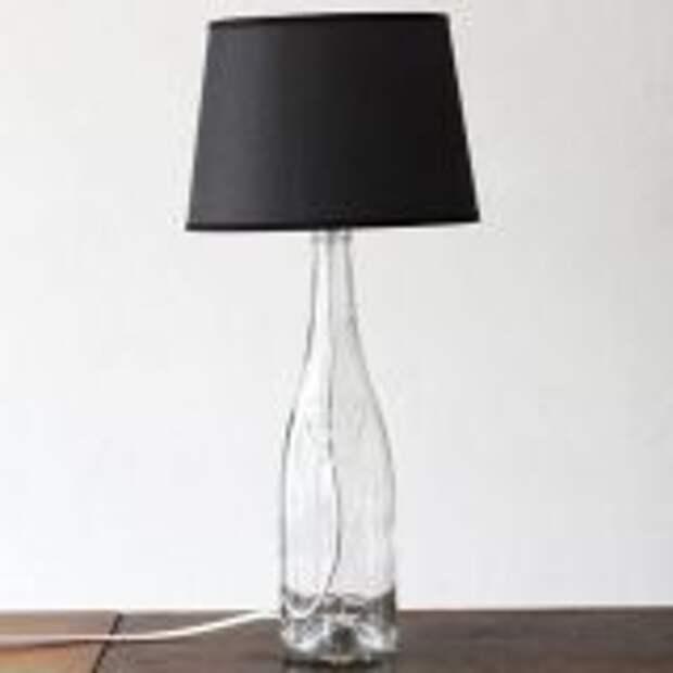 Что сделать из стеклянных бутылок: ваза, светильник, подсвечник, полка и не только
