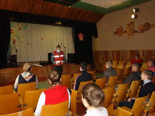 Учимся вместе со спасателями. Бобруйский район.