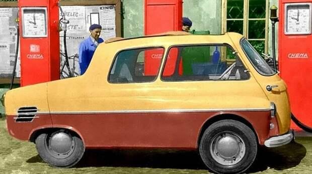 Оригинальный минивагон Jawa Motorex-350 с задним мотоциклетным мотором. 1956 год авто, автомобили, атодизайн, дизайн, интересный автомобили, олдтаймер, ретро авто, фургон