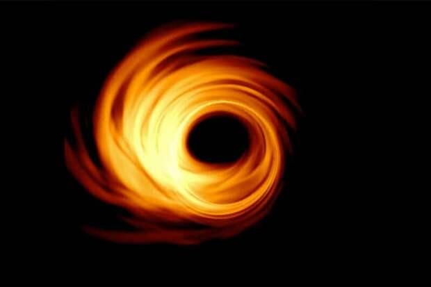 Моделирование того, как должна выглядеть черная дыра в центре галактики Messier 87