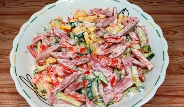 Быстрый рецепт – салат Бахор. Вкусный салат из доступных продуктов за 5 минут