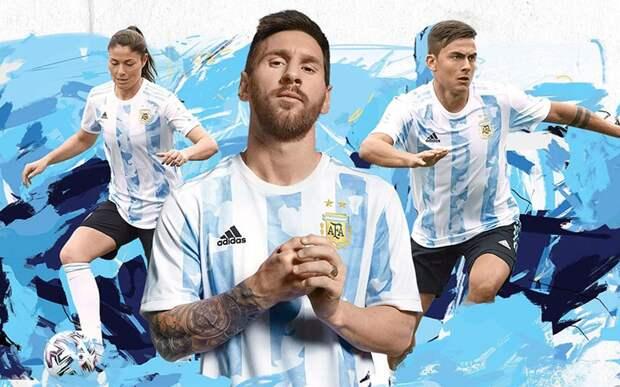 Месси принял участие в презентации новой формы сборной Аргентины