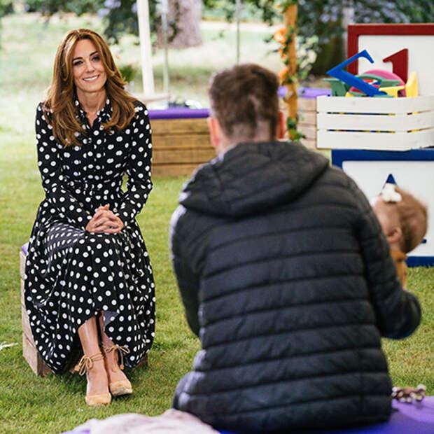 Детское время: Кейт Миддлтон дебютировала с новым цветом волос на утреннем шоу BBC
