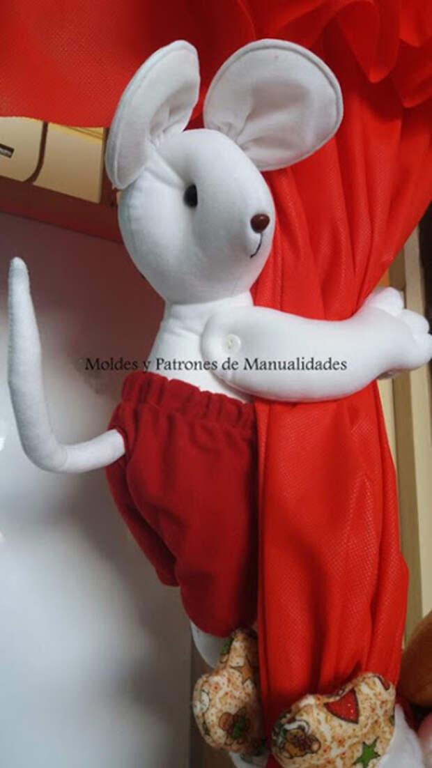 Выкройка мышки - подхвата для штор