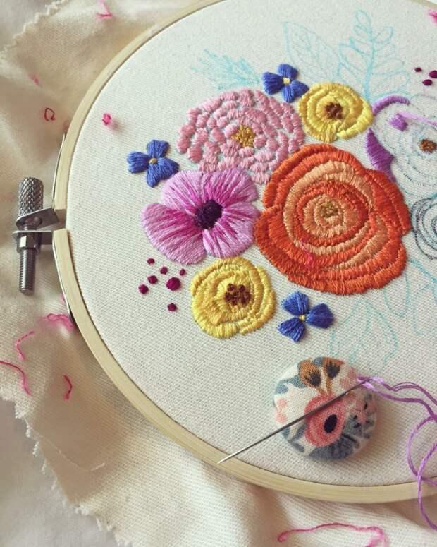 Цветущая гладь: яркая вышивка Leslie Sauceda-Morales