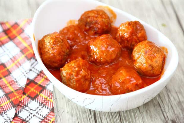 Тефтели из говядины в томатном соусе : 2 ТАРЕЛКИ | кулинария ...