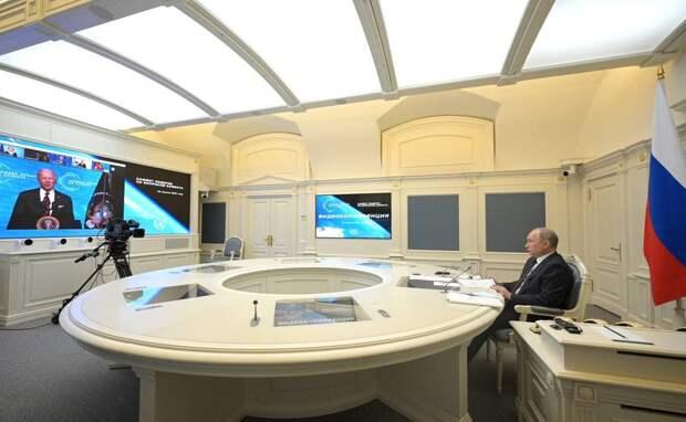 Виртуальная встреча Путина и Байдена: Глава Госдепа спрятался за маску
