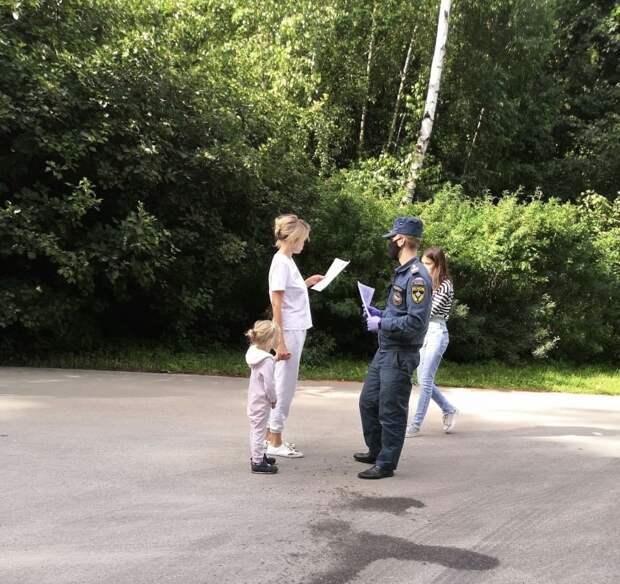 Сотрудники МЧС проводят патрулирование в лесопарковых зонах