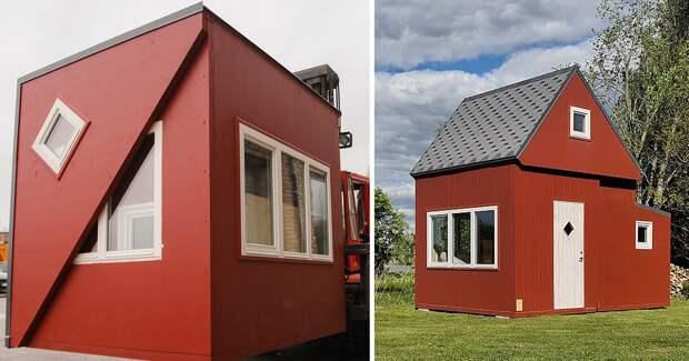 Складные дома-оригами: оригинальное жилище от латвийского стартапа