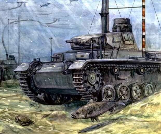 Танки-подлодки Гитлера. Как они показали себя на советско-германском фронте?