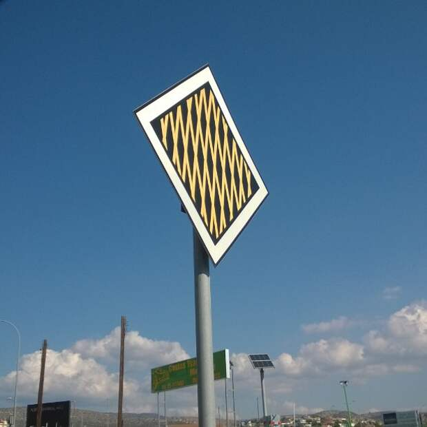 На дороге встречается какая-то неведомая фигня, будьте осторожны! дорожный знак, знак, знаки, неведомая херня